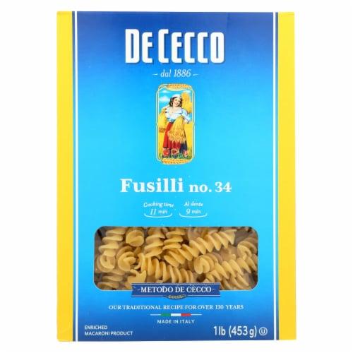 De Cecco Pasta - Pasta - Fusilli - Case of 12 - 16 oz Perspective: front