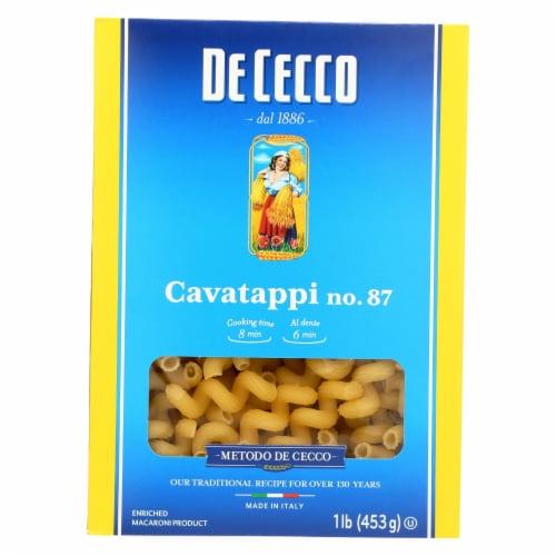 De Cecco Pasta - Pasta - Cavatappi - Case of 12 - 16 oz Perspective: front