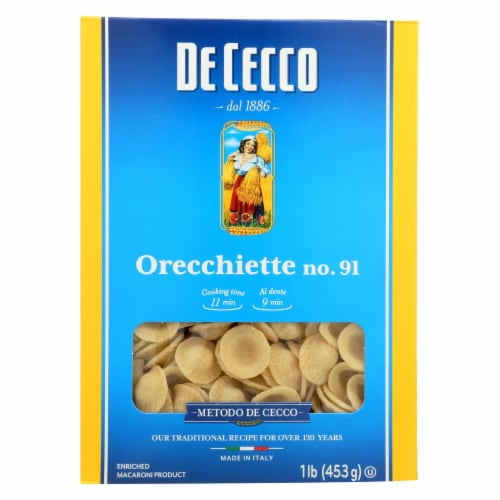 De Cecco Pasta - Pasta - Orecchiette - Case of 12 - 16 oz Perspective: front
