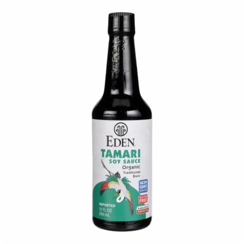 Eden Organic Tamari Soy Sauce  - Case of 12 - 10 FZ Perspective: front
