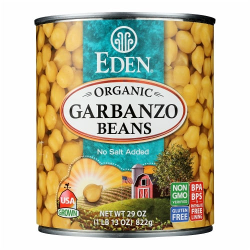 Eden Foods Organic Garbanzo Beans - Case of 12 - 29 oz. Perspective: front