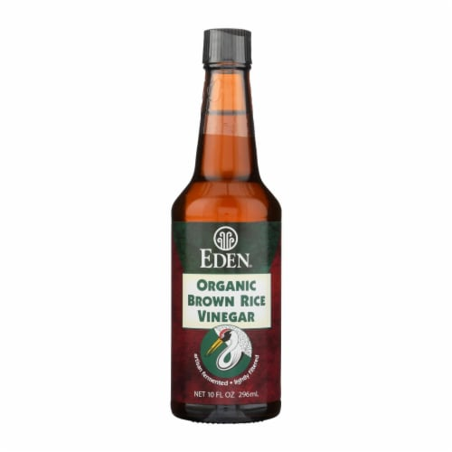 Eden Foods Organic Vinegar - Brown Rice - Case of 12 - 10 fl oz Perspective: front