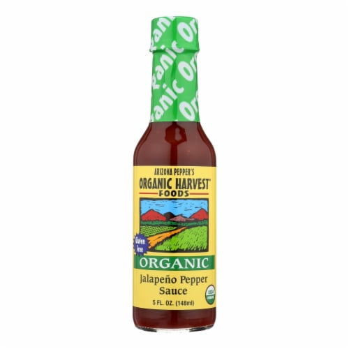 Organic Harvest Pepper Sauce - Organic Jalapeno - Case of 12 - 5 oz. Perspective: front