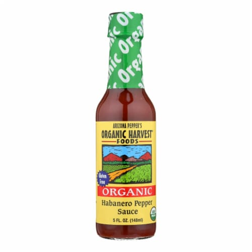 Organic Harvest Pepper Sauce - Habanero - Case of 12 - 5 oz. Perspective: front