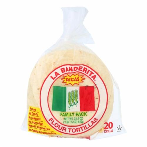 La Banderita Flour Tortillas - Rica's - Case of 12 - 22.5 oz. Perspective: front