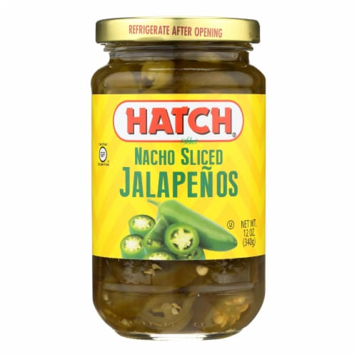Hatch Chili Jalapenos - Nacho Sliced - Case of 12 - 12 oz Perspective: front