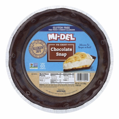Midel Gluten Free Chocolate Snaps - Pie Crust - Case of 12 - 7.1 oz. Perspective: front