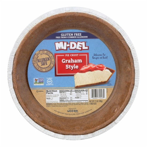 Midel Gluten Free Graham Style Pie Crust - Case of 12 - 7.1 oz. Perspective: front