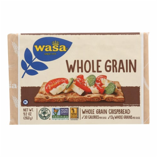Wasa Crispbread Whole Grain - Flour and Water - Case of 12 - 9.2 oz. Perspective: front