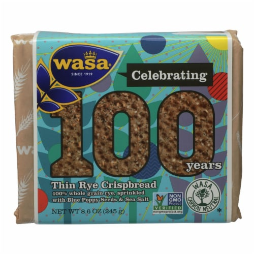 Wasa Crispbread - Crispbread Thin Rye 100 - Case of 12 - 8.6 OZ Perspective: front