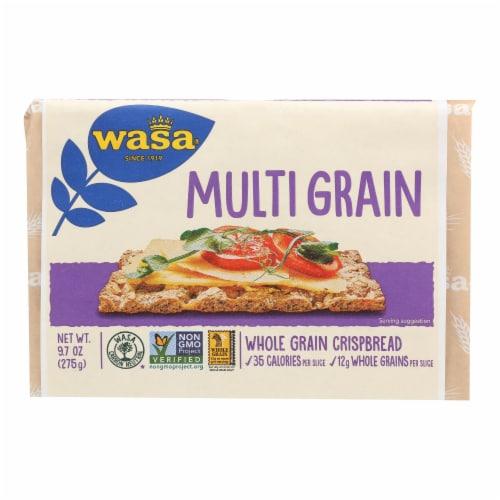 Wasa Crispbread Multigrain - Whole Grain - Case of 12 - 9.7 oz. Perspective: front