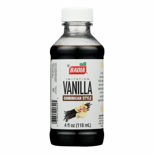 Badia Spices - Imitation - Vanilla Extract - Case of 12 - 4 Fl oz. Perspective: front