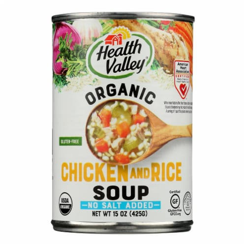 Health Valley Organic Soup - Chicken Rice No Salt Added - Case of 12 - 15 oz. Perspective: front