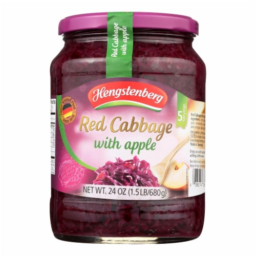 Hengstenberg Red Cabbage with Apple - Case of 12 - 24.3 oz. Perspective: front