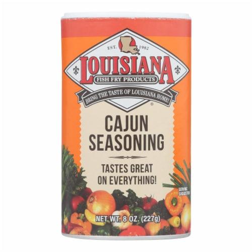 La Fish Fry Seasoning - Cajun - Case of 12 - 8 oz Perspective: front