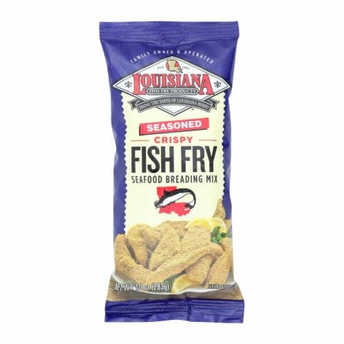 La Fish Fry Seasoned Crispy - Breading Mix - Case of 12 - 10 oz. Perspective: front