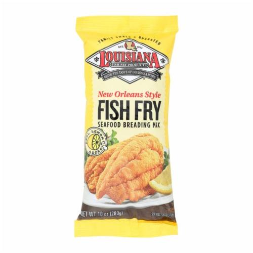 La Fish Fry New Orleans Style - Lemon - Case of 12 - 10 oz. Perspective: front