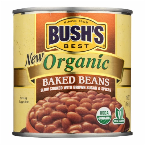 Bush's Best - Baked Beans - Organic - Case of 12 - 16 oz. Perspective: front