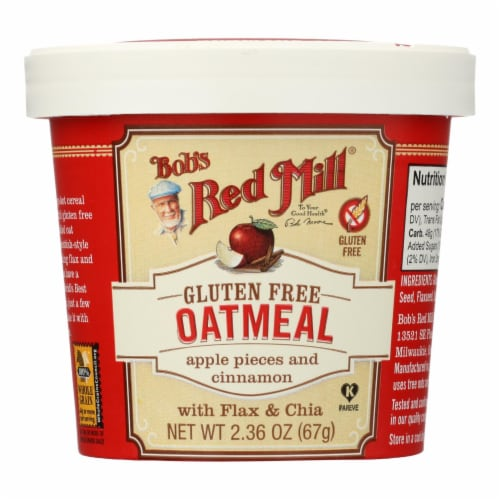Bob's Red Mill - Gluten Free Oatmeal Cup Apple and Cinnamon - 2.36 oz - Case of 12 Perspective: front
