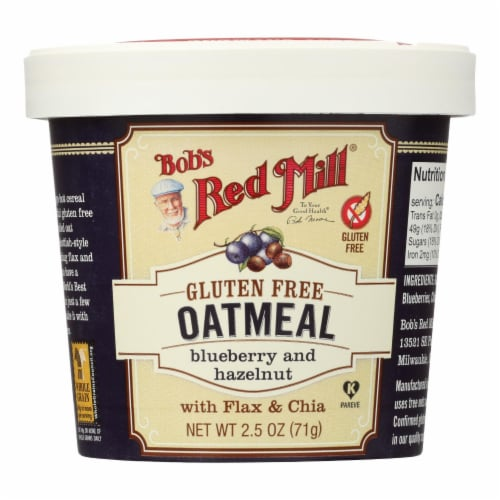 Bob's Red Mill - Gluten Free Oatmeal Cup Blueberry and Hazelnut - 2.5 oz - Case of 12 Perspective: front