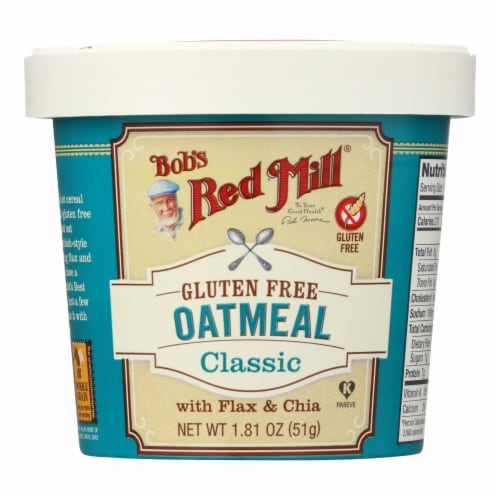 Bob's Red Mill - Gluten Free Oatmeal Cup Classic with Flax/Chia - 1.81 oz - Case of 12 Perspective: front