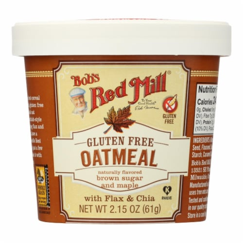 Bob's Red Mill - Gluten Free Oatmeal Cup Brown Sugar and Maple - 2.15 oz - Case of 12 Perspective: front