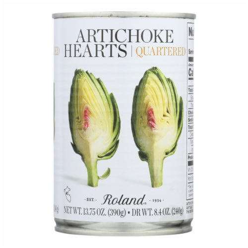 Roland Products Artichoke Hearts - Quartered - Case of 12 - 13.75Z Perspective: front