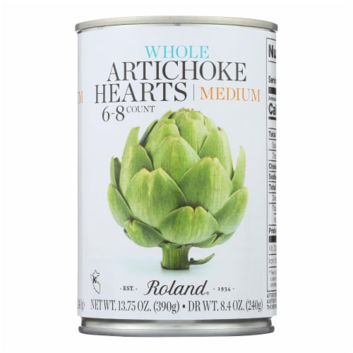 Roland Artichoke Hearts - Extra Large - Case of 12 - 13.75 oz. Perspective: front