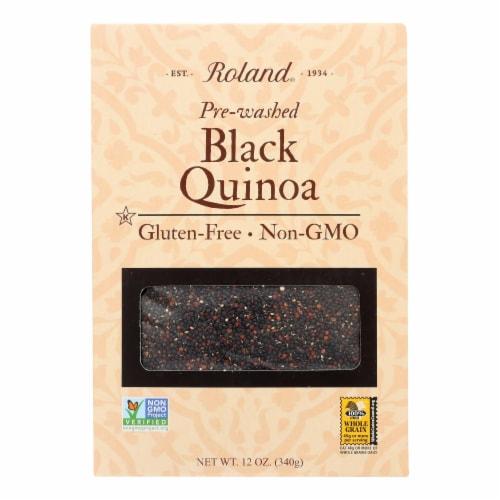 Roland Black Quinoa - Case of 12 - 12 oz. Perspective: front
