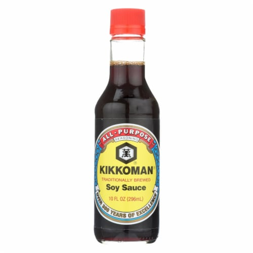Kikkoman Sauce - Soy - Case of 12 - 10 fl oz Perspective: front