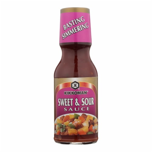Kikkoman Soy Sauce - Sweet and Sour - Case of 12 - 11.5 oz. Perspective: front