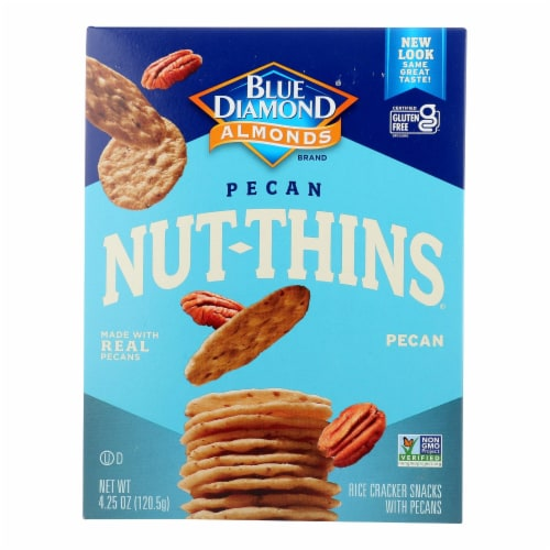 Blue Diamond - Nut Thins - Pecan - Case of 12 - 4.25 oz. Perspective: front