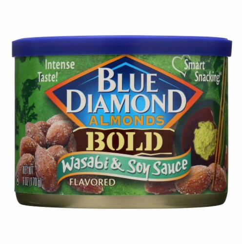Blue Diamond Bold Wasabi & Soy Almonds  - Case of 12 - 6 OZ Perspective: front