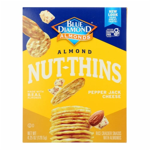 Blue Diamond - Nut Thin Crackers - Pepper Jack - Case of 12 - 4.25 oz. Perspective: front