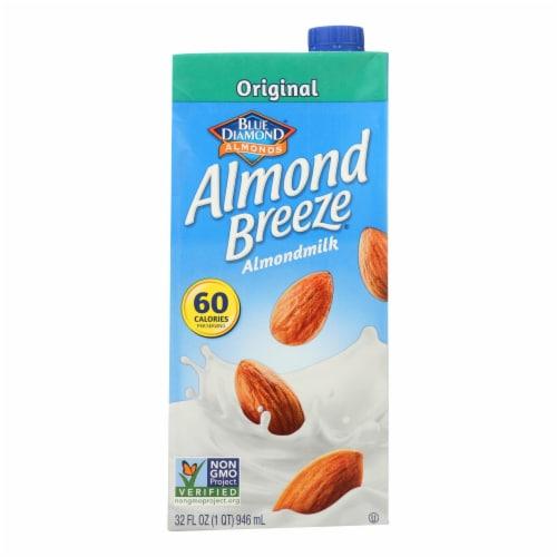 Almond Breeze - Almond Milk - Original - Case of 12 - 32 fl oz. Perspective: front