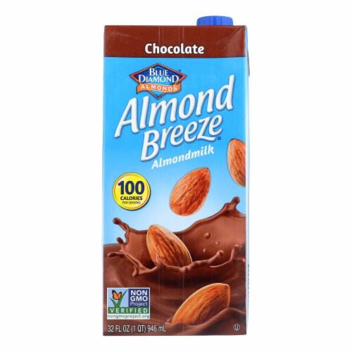 Almond Breeze - Almond Milk - Chocolate - Case of 12 - 32 fl oz. Perspective: front