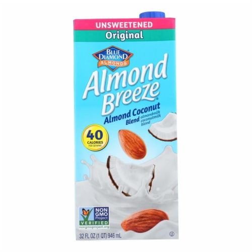 Almond Breeze - Almond Coconut Milk - Unsweetened - Case of 12 - 32 fl oz. Perspective: front