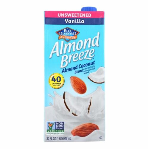 Almond Breeze - Almond Coconut Milk - Vanilla - Case of 12 - 32 fl oz. Perspective: front