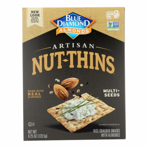 Blue Diamond - Artesion Nut Thins - Multi Seed - Case of 12 - 4.25 oz. Perspective: front