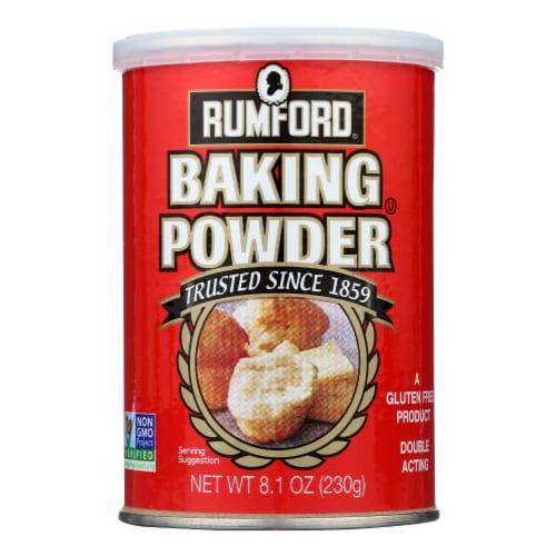 Rumford Baking Powder - Aluminum Free - Non-Gmo - Case of 12 - 8.1 oz Perspective: front