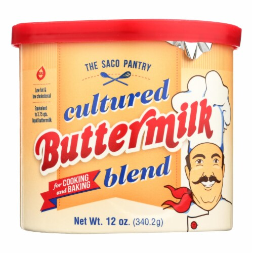 Saco Foods Buttermilk Powder Blend - Cultured - 12 oz - case of 12 Perspective: front