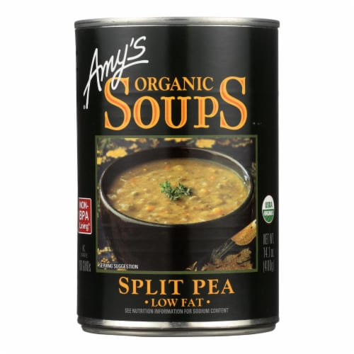 Amy's - Organic Fat Free Split Pea Soup - Case of 12 - 14.1 oz Perspective: front