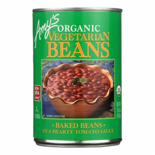 Amy's - Organic Vegetarian Baked Beans - Case of 12 - 15 oz. Perspective: front