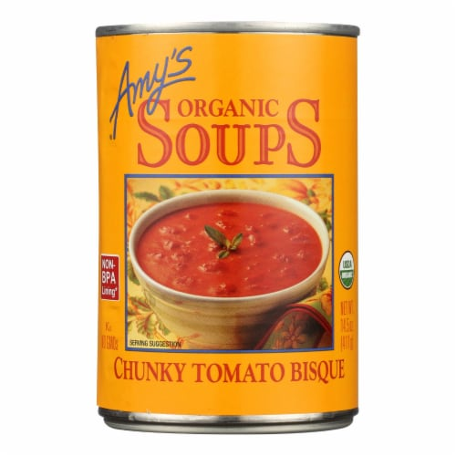 Amy's - Organic Chunky Tomato Bisque - Case of 12 - 14.5 oz Perspective: front