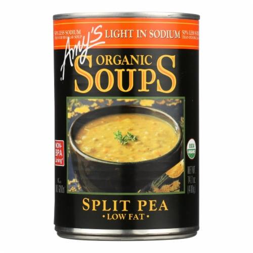 Amy's - Organic Low Salt Split Pea Soup - Case of 12 - 14.1 oz Perspective: front