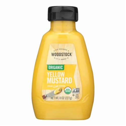 Woodstock Organic Yellow Mustard - 1 Each 1 - 8 OZ Perspective: front