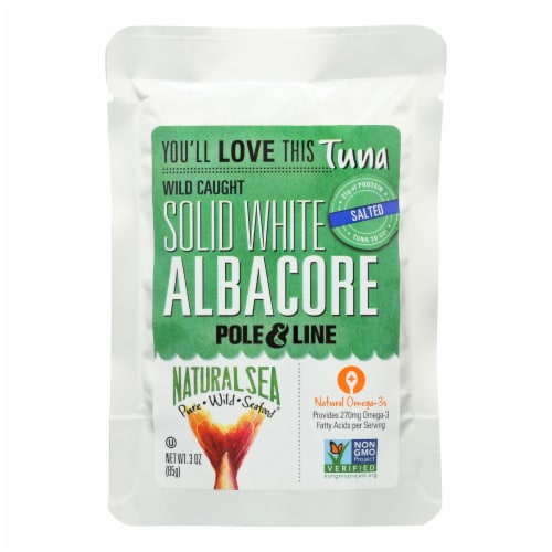 Natural Sea Wild Albacore Tuna Pouch, Salted, Solid White - 1 Each 1 - 3 OZ Perspective: front