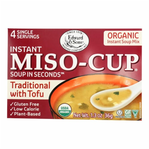 Edward and Sons Organic Traditional Miso - Cup - Case of 12 - 1.3 oz. Perspective: front