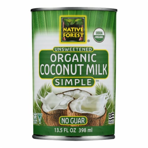 Native Forest Organic Coconut Milk - Pure and Simple - Case of 12 - 13.5 fl oz Perspective: front