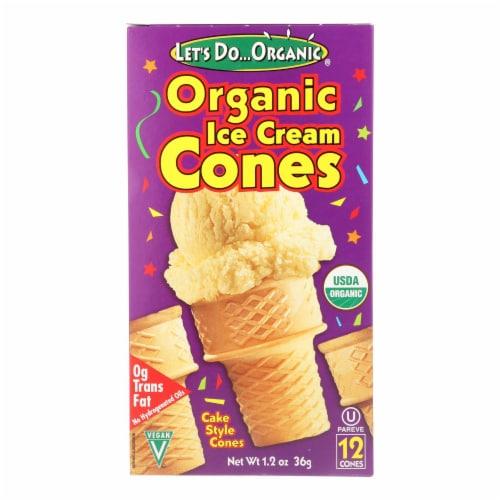 Let's Do Organics Ice Cream Cones - Organic - Case of 12 - 1.2 oz. Perspective: front